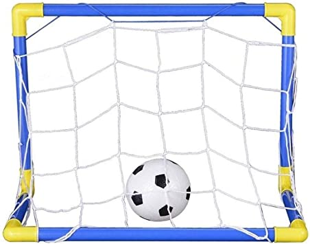 Mini Football Soccer Goal Post Net Set with Pump Kids Sport Toy