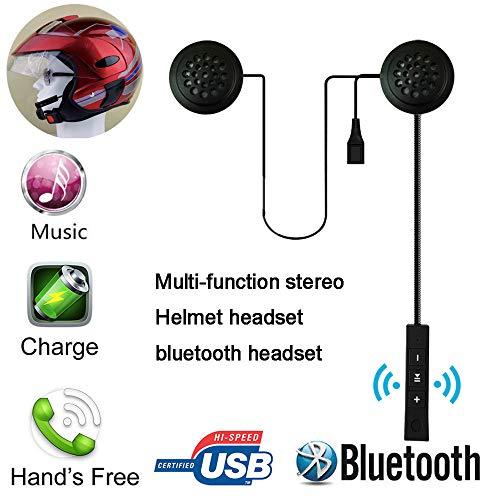 (Helmet Wireless Bluetooth 4.0 Headset Stereo Earphone Hand Free)