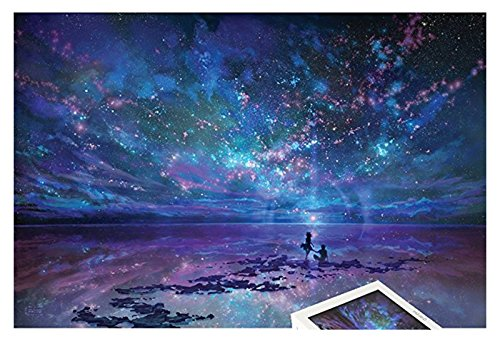 1000 Pieces Wooden Jigsaw Puzzle Oil Paiting Fantasy Romantic Star Sea -