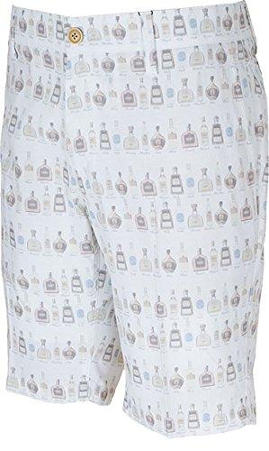キャロウェイ ボトルプリントストレッチ千鳥ドビー ショートパンツ 241-7123502 【ホワイト(030)?Mサイズ】