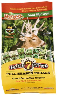 Evolved Industries 73027 Food Plot Seed, 7-Card Stud, 10-Lbs.