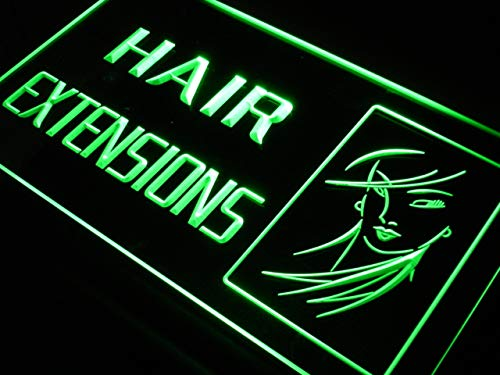 ADVPRO Hair Extensions Beauty Salon Shop LED看板 ネオンプレート サイン 標識 Blue 600 x 400mm st4s64-j687-b B07GDG5PQB 24