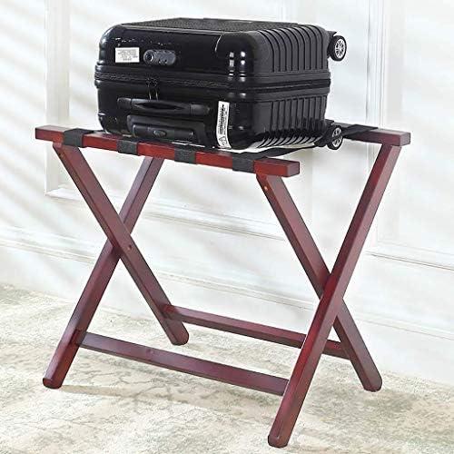 ZWH-ZWH 荷物はホテルのソリッドウッド折りたたみルームは荷物スツール、ワインレッド62.8x47.5x57cmラックラック 手荷物棚