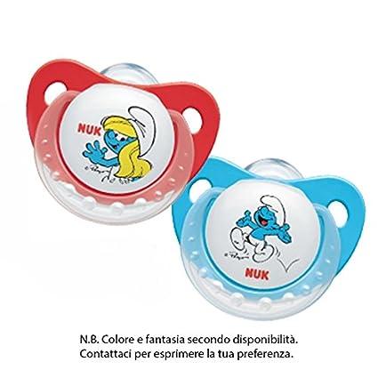 Nuk Trendline - Los Pitufos - chupete de silicona para bebés de 0 a 6 meses (2 unidades)