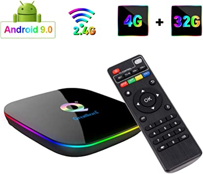 Greatlizard Android 9.0 Q Plus TV Box 4GB RAM 32GB ROM 4K HD H6 Quad Cable 2.4G WiFi Smart TV Box: Amazon.es: Electrónica