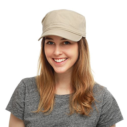 21e79ec3 THE HAT DEPOT Cadet Army Washed Cotton Basic Cap Military Style Hat ...