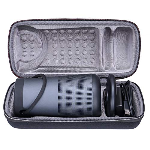 XANAD Hard Case for Bose SoundLink Revolve+ Plus Portable & Long-Lasting Bluetooth 360 Speaker and Charging Cradle