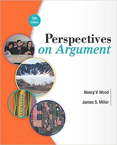 Amazon Com Perspectives On Argument 8th Edition 8601422023718 Wood Nancy V Miller James S Books
