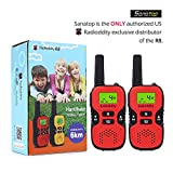 Radioddity R8 Handheld Walkie Talkies For Kids, UHF 462.5625-467.7250MHz FRS/GMRS Two-Way Radio Transceiver For Children, 22 Channels, Max 6KM (3.73miles) Range, Boys & Girls, Red, 1 Pair (2 Pcs)