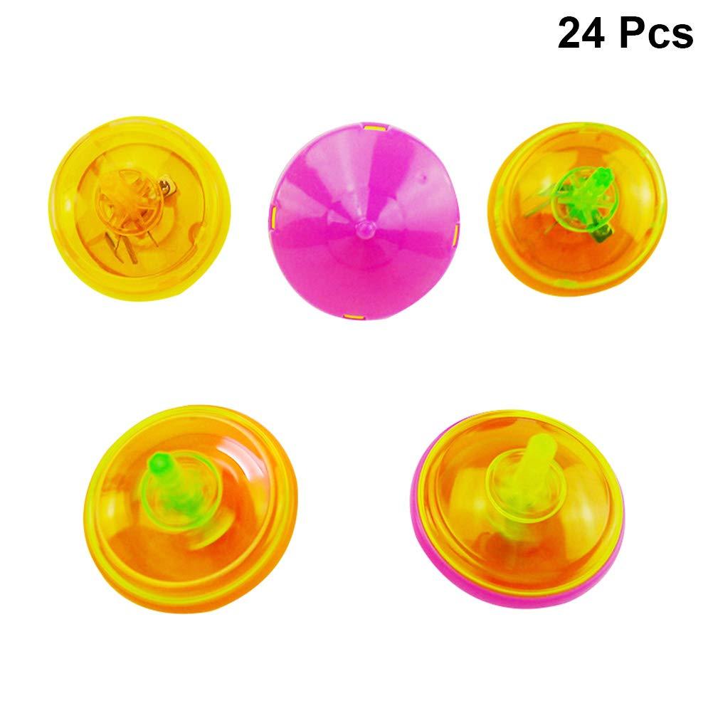 Toyvian 24pcs Mini Destellos de Spinning Que Destella Juguetes ...