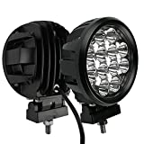 Audak 2Pcs 60W Spot Beam 6 Inch Round LED Work Light Driving Lights Spotlights for Off Road 4x4 Pickup Truck
