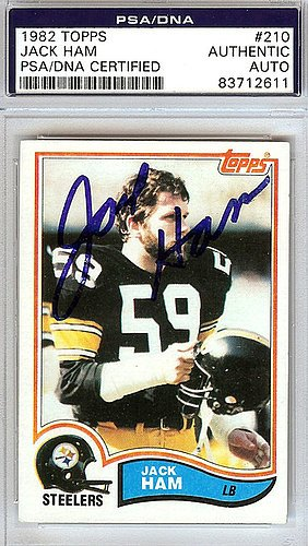 Jack Ham Signed 1982 Topps Trading Card #210 - PSA/DNA Authentication - Autographed NFL Football Memorabilia