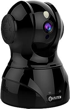 Opinión sobre WiFi Cámara - Atuten HD 1080P Inalámbrico IP Vigilancia Camera Auto Giratorio,Audio Bidireccional,Visión Nocturna,Detección de Movimiento, Alarma para Hogar Monitor Baby (1080P, Negro)