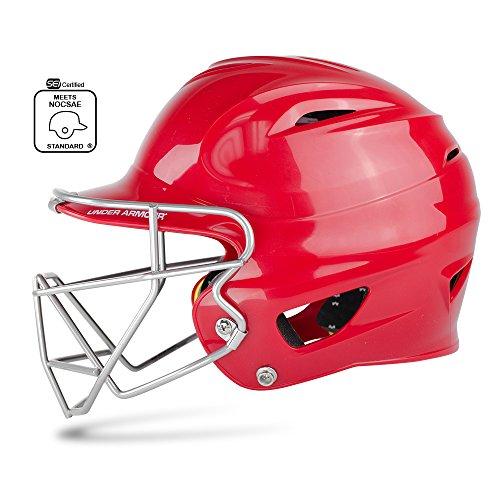 Under Armour Baseball UABH100-FGB2: RO Classic Solid Batting Helmet with Baseball Faceguard – DiZiSports Store