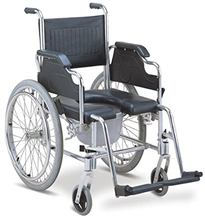 Amazon.com: MedMobile Commode / Shower Wheelchair With Aluminum ...