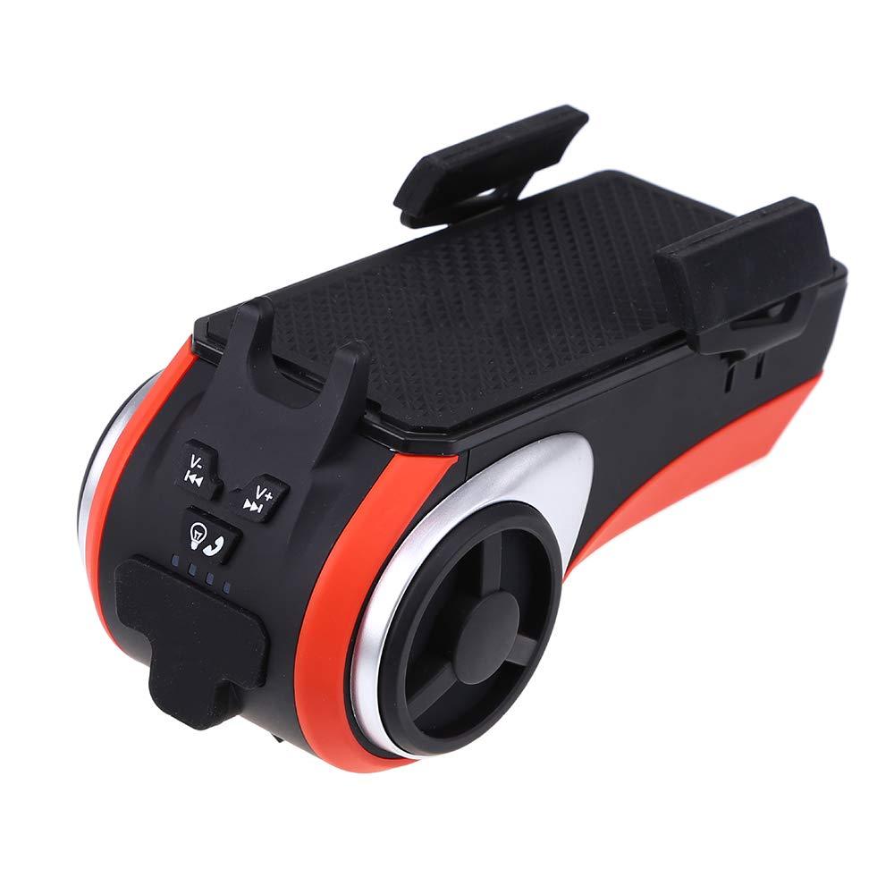Earlyheart Multifunktionsfahrrad-Licht, Doppel-LED-Scheinwerfer, Fahr Blautooth-Lautsprecher, Honking, Handy-Halter, Mobile Strom