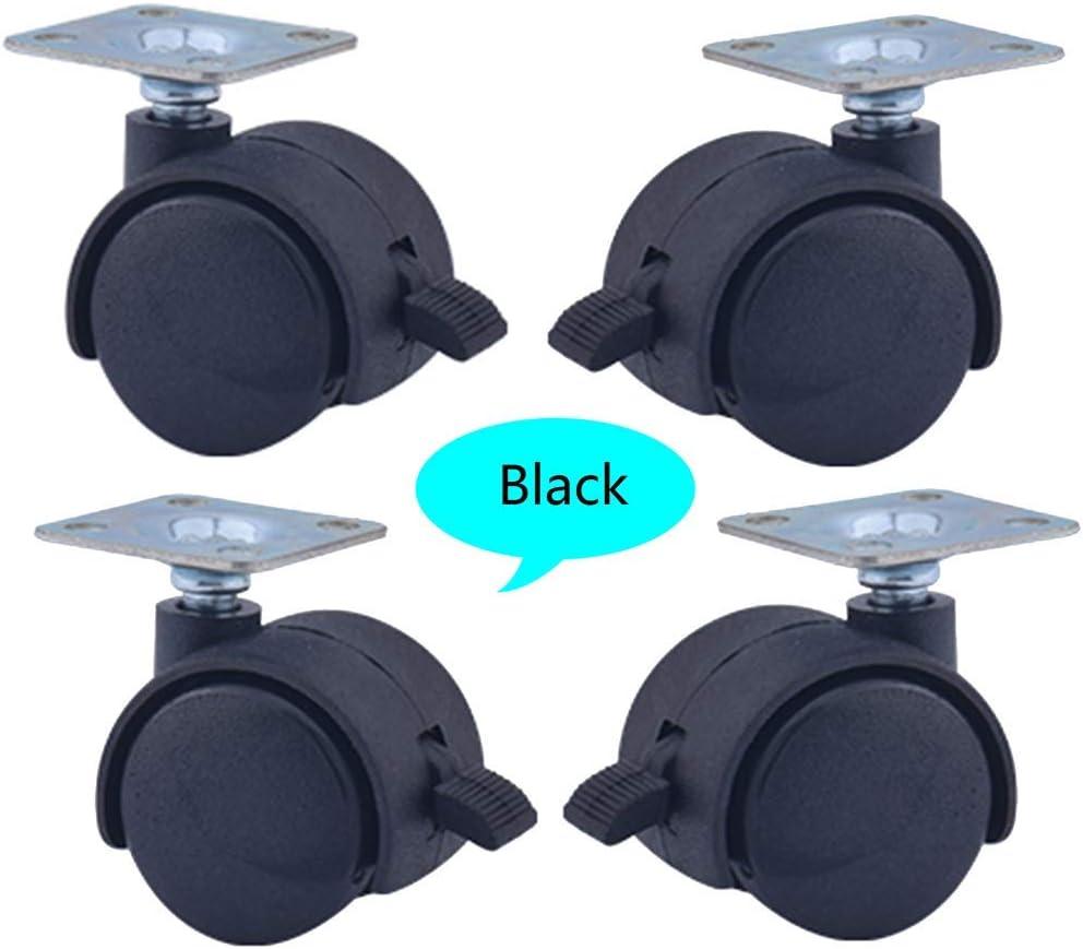 YZZR 1.5Zoll Lenkrollen Schwenkrollen mit Bremse 4 St/ück,/ø40mm M/öbelrollen,Stumm,Tragkraft 70kg,Wei/ß//grau//schwarz,f/ür beistelltisch