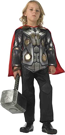 Thor 2 - Disfraz Deluxe, para niños, Talla S (RubieS 888895-S ...