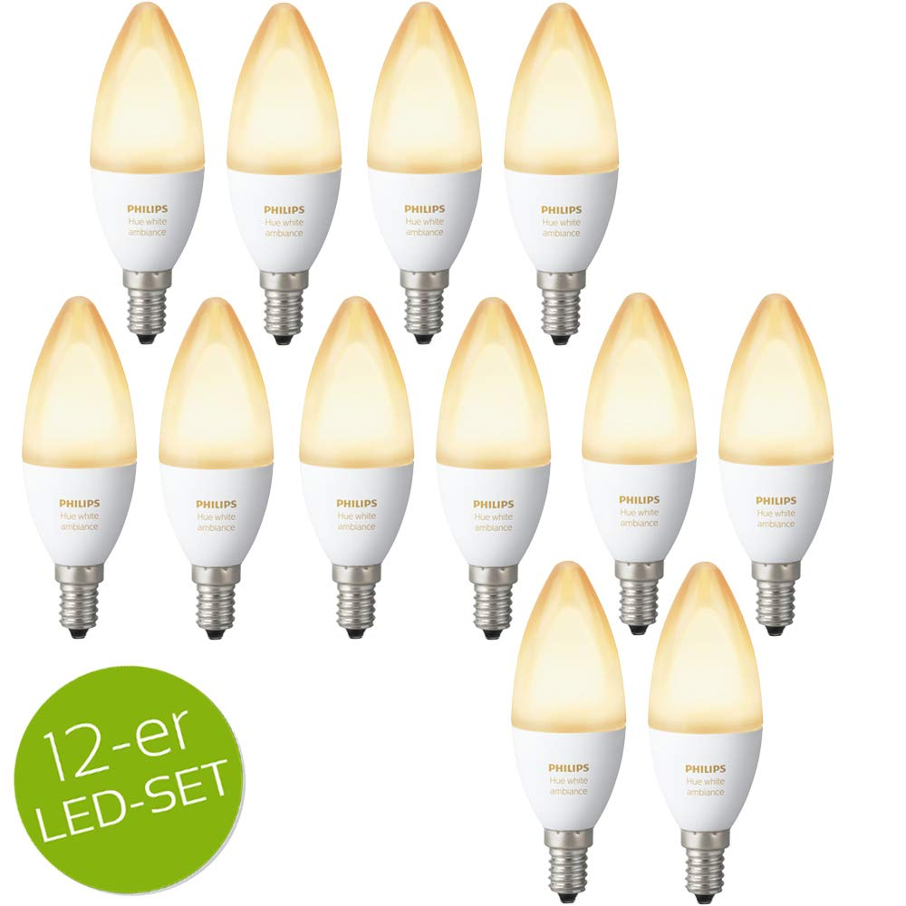 Philips Hue White Ambiance LED E14 6W ZigBee Echo Alexa kompatibel - 4er Set click-licht.de