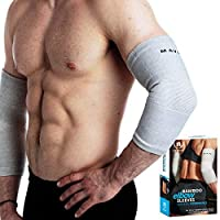Mava Sports Bamboo Elbow Compression Sleeves with Mava Sports Reflexology Knee Support...