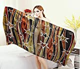 Anniutwo Rustic,Baby Bath Towel,Vertical Wavy Stripes Oak Timber Wood Design with Various Star Figures,Print Wrap Towels,Black Light Coffee Brown Size: W 10'' x L 39.5''