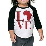 Love Africa Baseball Jersey Boys Girls Tee 3/4 Sleeves Raglan Toddler Tops