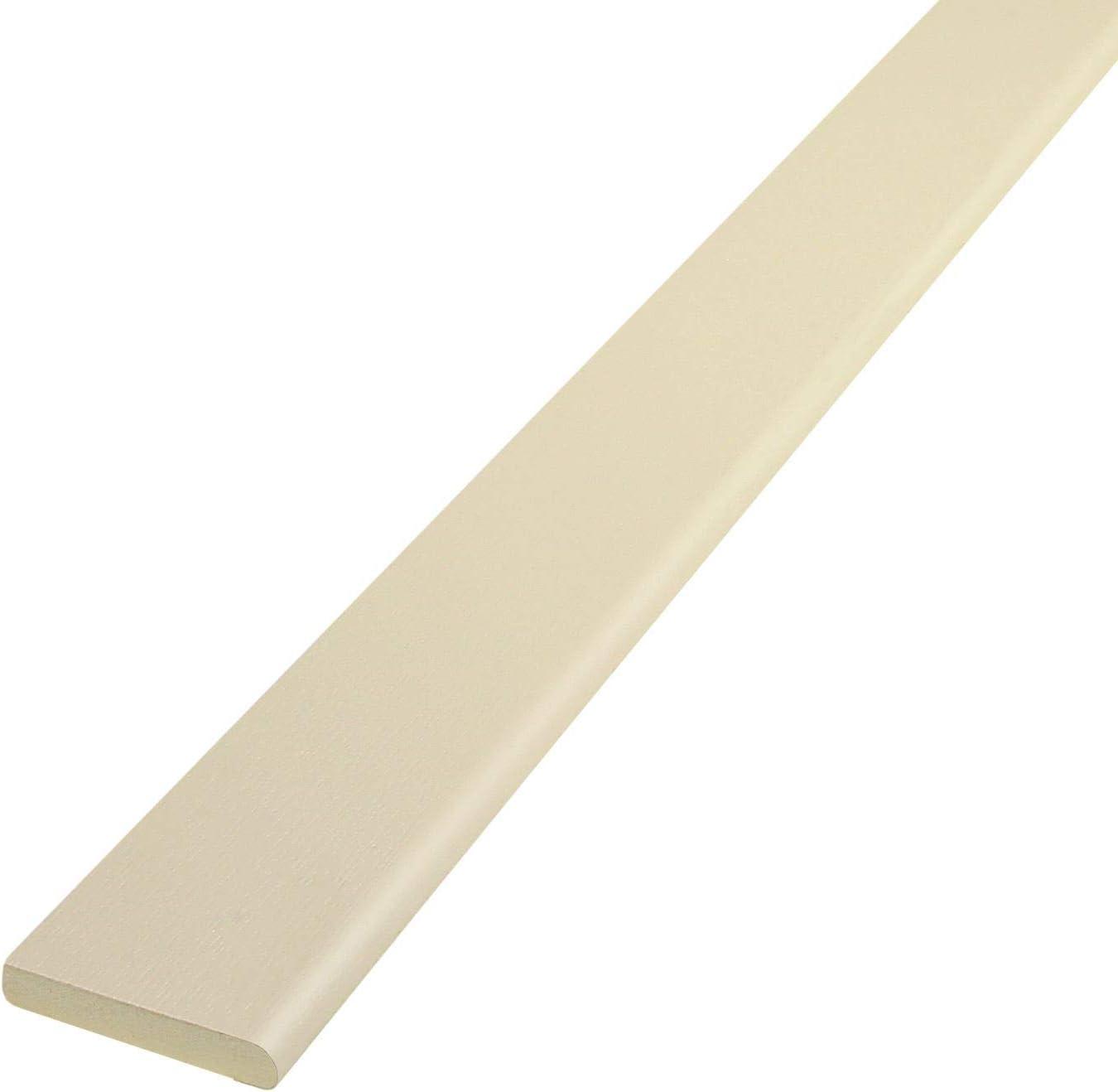 White Ash 95mm x 5m Pencil-Round Architrave uPVC Plastic Window Finishing Trim