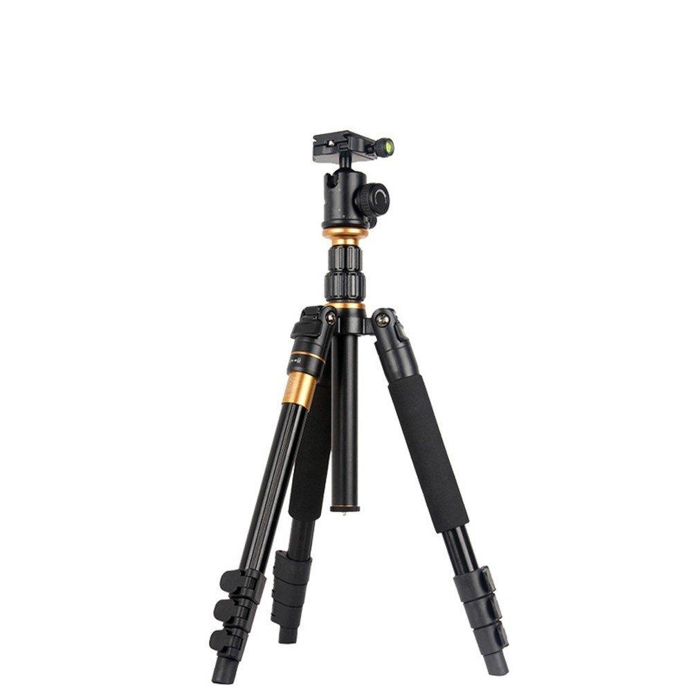 Portable Aluminum SLR Camera Tripod, Removable Monopod, Multi-function Travel Photography/Camera Head Tripod by ZQ