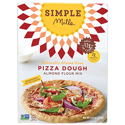 Simple Mills Pizza Dough Almond Flour Baking Mix, Gluten Free, Paleo, Vegan, Natural, 9.0 Ounce Boxes (Pack of 3) (Pizza Dough Paleo compare prices)