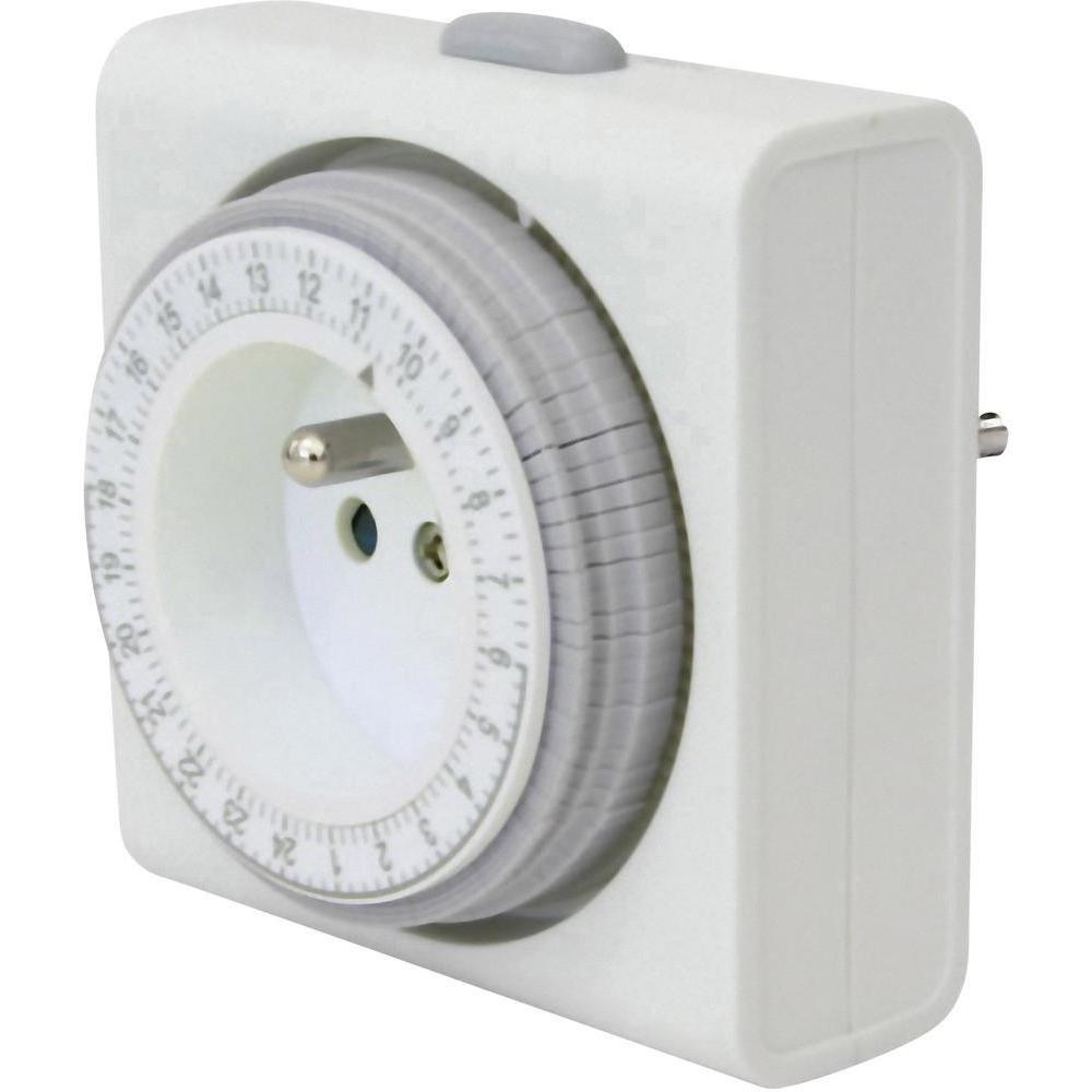 Programmateur horaire pour prise /électrique analogique GAO 7FD//3A programme journalier 3680 W