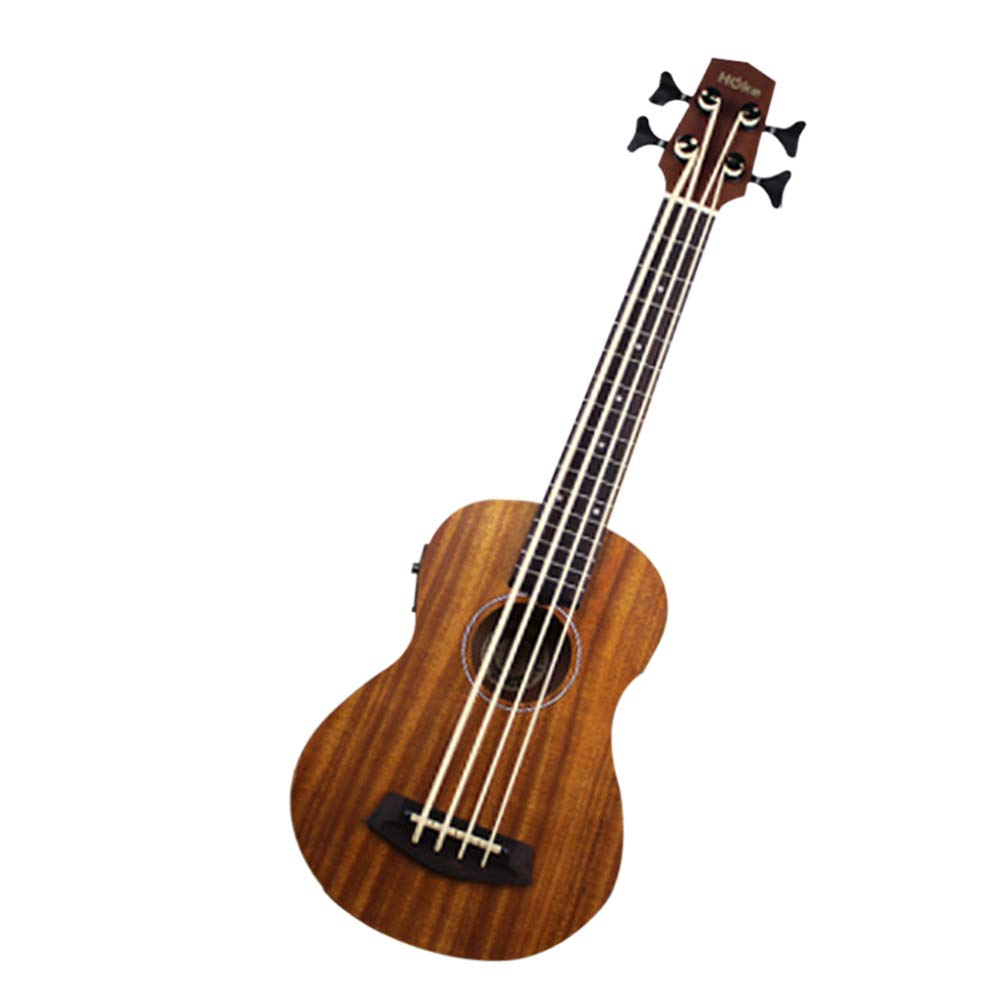 Alician Ukulele Bass 30 inch ubass Hawaiian Small Guitar Bass Four String Plucked Small Guitar by Alician