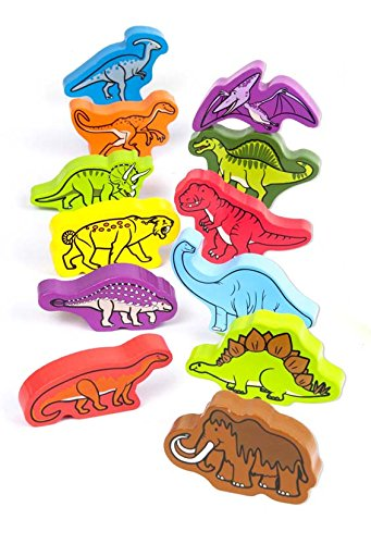Dinosaurs Toddler Wooden Block Set