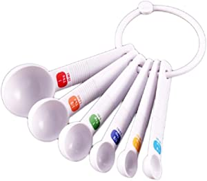 FTXJ 6pcs/ Set Measuring Spoon Tea Scoop Teaspoon Baking Cooking Kitchen Tools