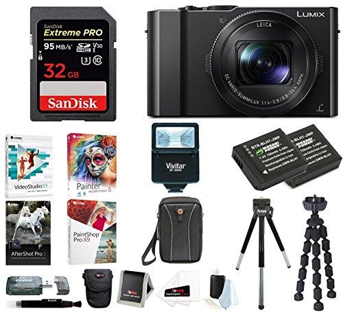 Panasonic LUMIX 4K Digital Camera with Digital Slave Flash & Corel Suite Bundle
