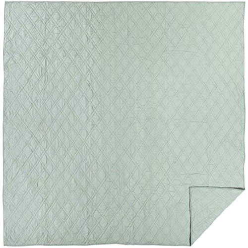 VHC Brands Farmhouse Bedding - Casey Green Quilt, Queen, Sea Glass
