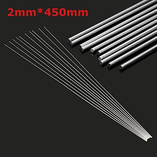 10pcs 2mmx45cm Aluminium Low Temperature Welding Brazing Rod for All AL (Cast Iron Brazing Rods)