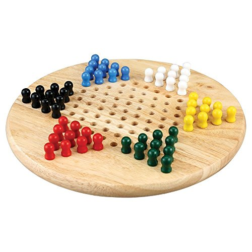 Lian Wood Chinese Checkers Board Game Set - 11 Inch Set (Checkers Chinese Standard)