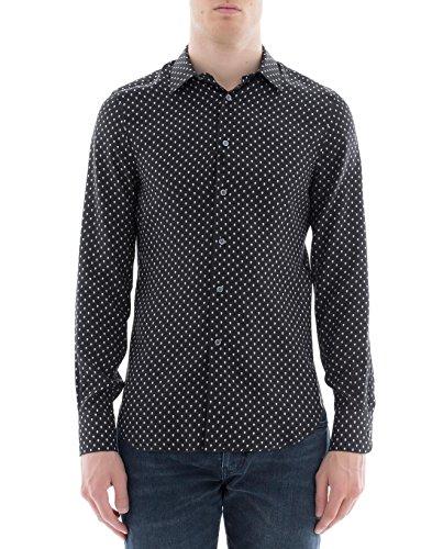 Alexander McQueen Men's 488653Qlq051080 Black Silk Shirt