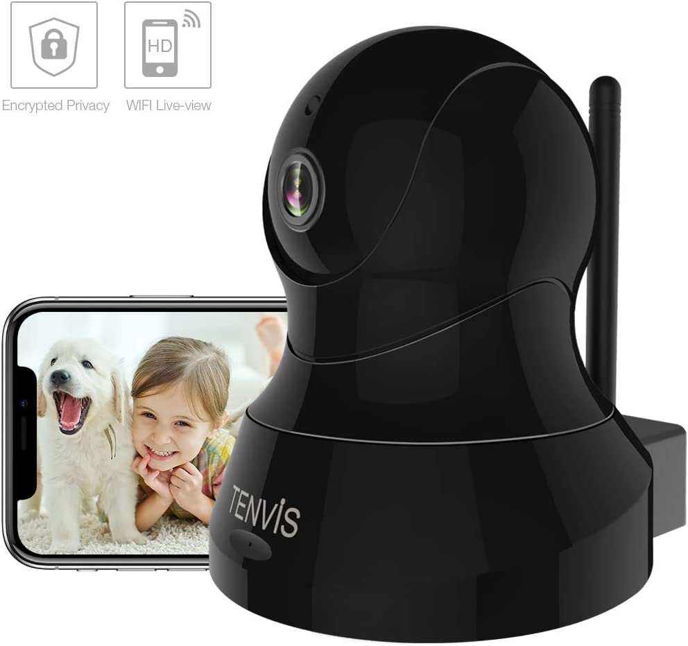 TENVIS Pet Camera – Dog Camera Wireless Indoor Security Camera w Motion Detection, Two-Way Audio, Enhanced Night Vision, Home Surveillance Camera with MicroSD Slot, iOS Android