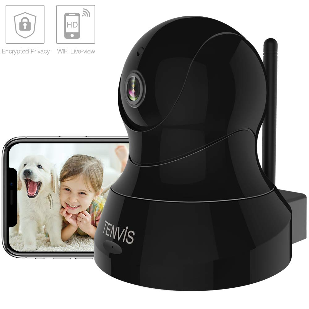 TENVIS Pet Camera - Dog Camera Wireless Indoor Security Camera w/Motion Detection, Two-Way Audio, Enhanced Night Vision, Home Surveillance Camera with MicroSD Slot, iOS/Android by TENVIS