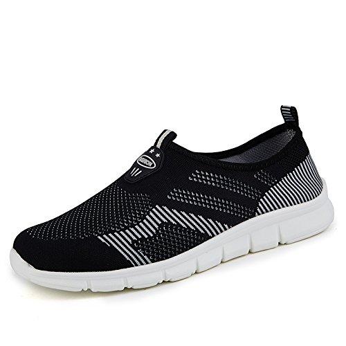 Cómodos Zapatos Verano Black ash Femeninos Ocasionales Zapatos Hasag Zapatos de de Fondo Deportivos Antideslizantes Nuevos Zapatos Red Malla de Transpirables Suave de Mamá FxqYan