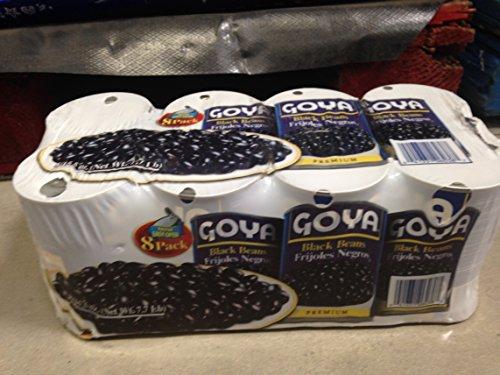 Goya black beans 8 PK (pack of 6) by Goya