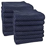 Tools & Hardware : Cheap Cheap Moving Boxes 72 x 80 Inches Pro Moving Blankets, Pack of 12, Blue/Black (MB104)