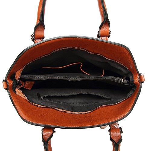 Sac Brown Bandoulière Capacité à Dos Grande à Bandoulière à Shopping Sac Simple Mode Rétro Sac Main à Femmes La Des De Sac w1Ugq0Sff