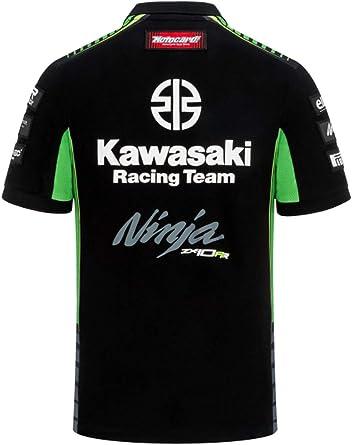 Kawasaki Racing Team Polo - Réplica - Negro - S: Amazon.es: Ropa y ...