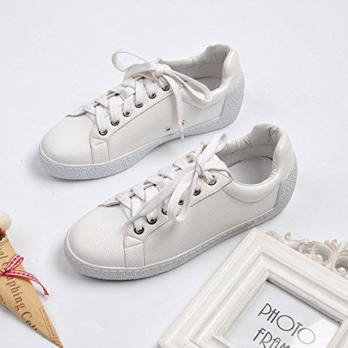 zapatos lazo zapatos metal sujeción arranque blanca de muchacha blancos decorativo cabeza rosca redonda con damas 34 frontal Chi estrella correa la de de y Lai blancos La brillantes qF68Tx