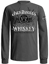 Men's Daniel's Grey Old Time Whiskey T-Shirt - 15261412Jd-79