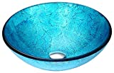 Tempered Glass Vessel Sink - Blue Ice - Accent Series LS-AZ047 - ANZZI