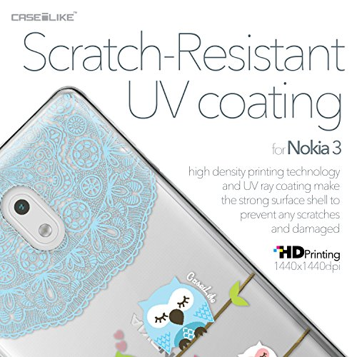 CASEiLIKE Funda Nokia 5 , Carcasa Nokia 5, Citar 2429, TPU Gel silicone protectora cover Búho diseño gráfico 3318