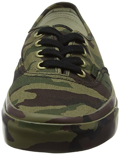 Adulte Print Sneakers Vans Basses mono Vert Authentic Mixte wanq4FgI